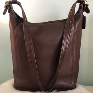 COACH Leather Large Bucket Bag #H8P-9060